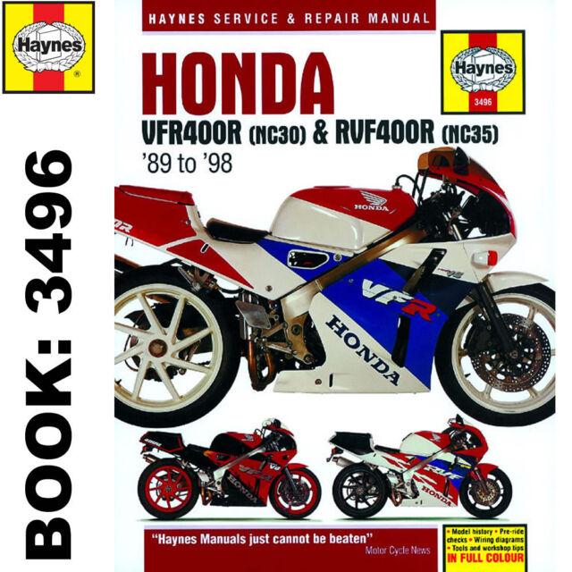 Honda haynes 3496 workshop manual vfr400r nc30 rvf400r nc35 ebay honda vfr400 nc30 rvf400 nc35 v fours 1989 98 haynes workshop manual cheapraybanclubmaster Image collections