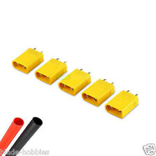 5 X MALE XT30 LIPO BATTERY CONNECTORS & HEATSHRINK RC PLANE HELICOPTER 250 QUAD