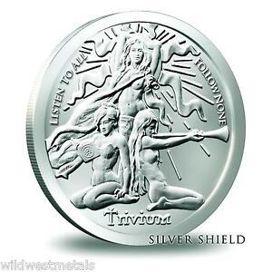 "2015 Silver Shield /""TRIVIUM GIRLS/"" 1 oz Silver Proof Medallion"