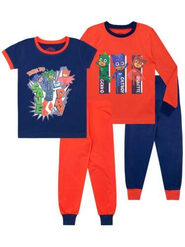 Pack of 2Boys Catboy PJ Masks Pyjamas and Gekko PJs 2 Pack Owlette