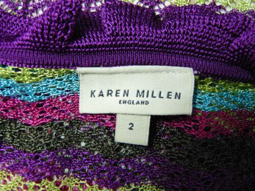 F M Millen N Motif Cardigan Gr Karen Neuf Multicolore Comme Avec 5759 Ptq1dwd