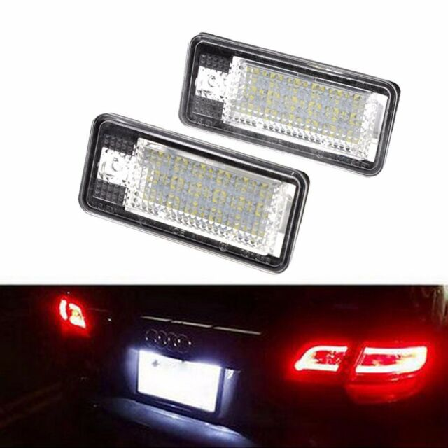 2 Pakcs Number Plate Lamps Rear Licence Number Plate lights for A3 S3 A4 S4 B6 A6 C6 Q7 A8 Canbus 6000K Xenon Cold White