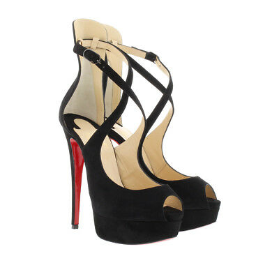 the latest bf01b 4e09a Christian Louboutin Marlenalta 150 Black Suede Platform Pump Heel 38.5 NEW  $1045   eBay