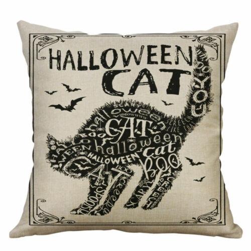"""Hallowmas Cushion Covers Home Decor Pillow Cotton Linen 18/"""" bat Case"""