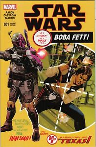 MARVEL STAR WARS #1 HEROES AND FANTASIES EXCLUSIVE BOBA FETT COLOR VARIANT