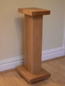Details about Solid Oak Wood speaker stands RC8 Deluxe, Custom Audio  Visual Furniture