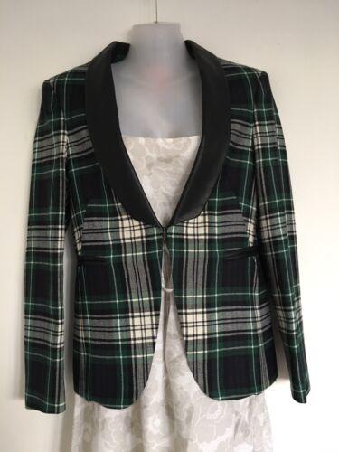 Wool Size Vilagallo Blazer Tartan Green Jacket Designer Virgin 36 gtHxTqq