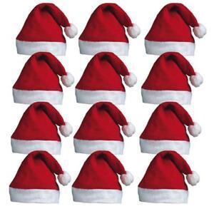 BULK BUY CHRISTMAS SANTA HATS FANCY DRESS XMAS PARTY SANTA CLAUS ... 664566225be