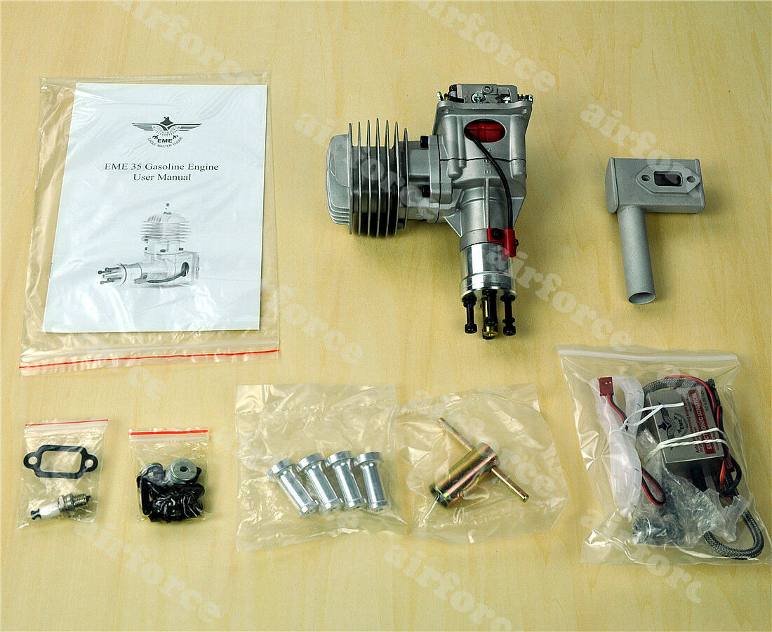1 conjuntos 35CC Gas Engine para RC Avión  Escape  Encendido EME35 1RPM