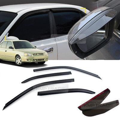 Smoke Window Vent Visor For HYUNDAI 1999-2005 Verna Accent Side Mirror Guard