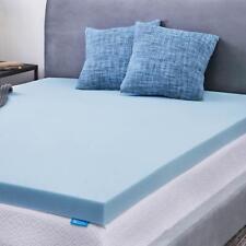 lucid 3 inch gel memory foam mattress topper out of original package oop
