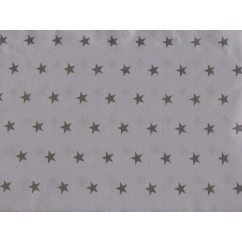 2-7 Set Baby Bedding 120x90//135x100//150x120 Reversible Stars White//Grey Curtains
