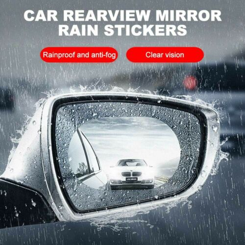 2pc Rainproof Car Rearview Mirror Sticker Anti-fog Protective Film Rain Shield