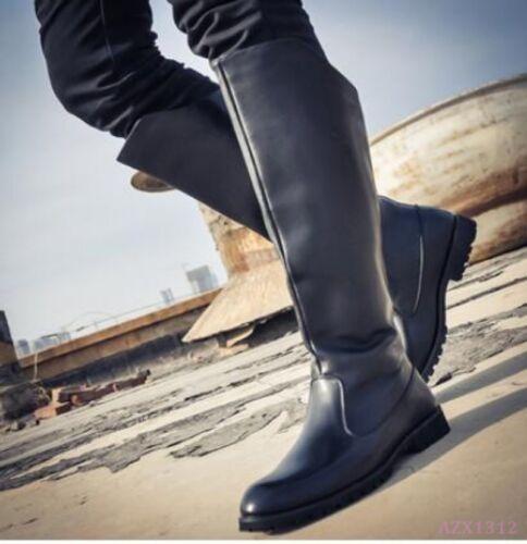 mollet Hommes Slip Moto Chaussures Militaire équitation Cowboy mi On Chaud Chukka Bottes KuTJc3lF1