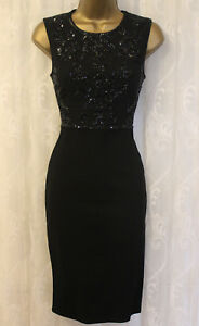 Needle-amp-Thread-Grid-Embellished-Top-Mini-Pencil-Bodycon-Fit-Party-Dress-8-36