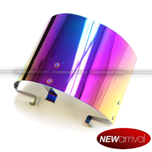 "Neo Chrome Air Intake Filter Heat Shield For 2.25/"" to 3.5/"" Cone Filters"