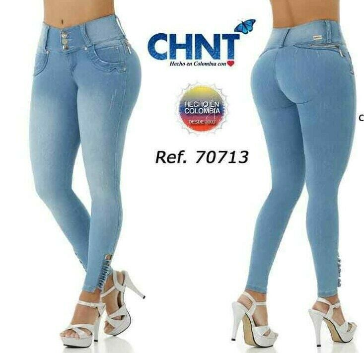 BUTT LIFTER COLOMBIAN SKINNY JEANS IN LIGHT blueE COLOR BY CHNT