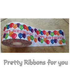 YARD OF 2 INCH WIDE CHICAGO CUBS GROSGRAIN  RIBBON SOLD BY THE YARD