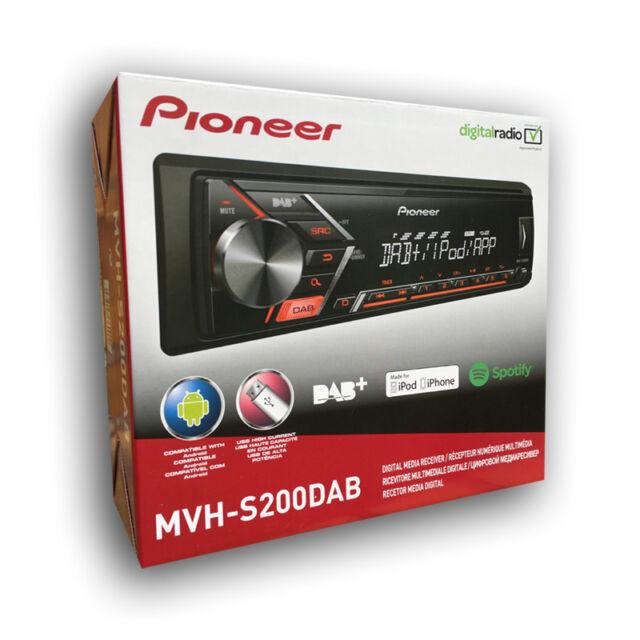 Pioneer MVH-S200DAB 12V Tuner Autoradio Digitaler Media Receiver DAB+ USB