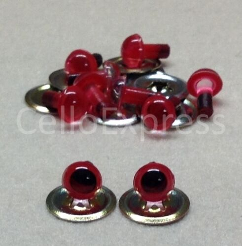 Various 6mm PLASTIC EYES with METAL BACKS for Teddy Bear Making Soft Toy Doll