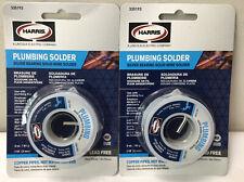 Harris 2 Pack Plumbing Solder Silver Bearing Solid Wire 3oz 335193 Lead Free