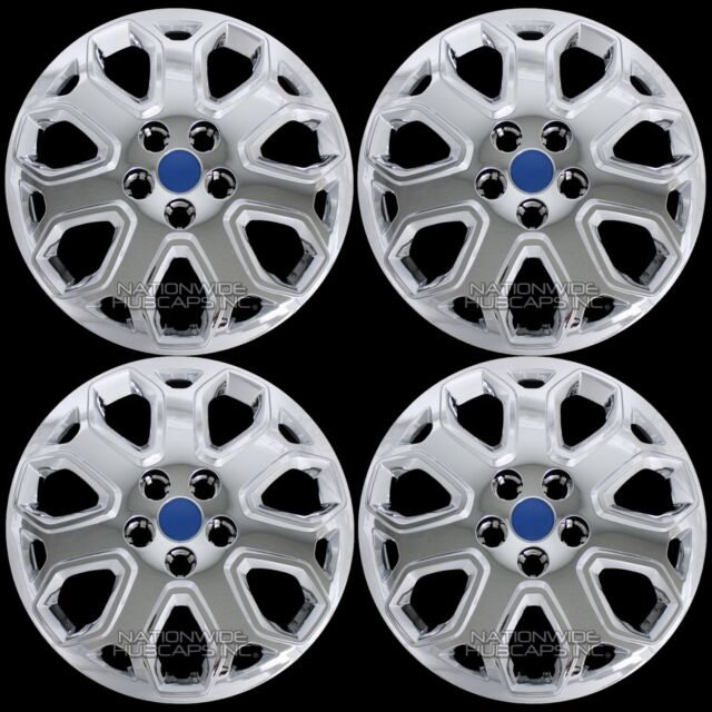 """NEW 2012-2014 Ford FOCUS 16/"""" Wheelcover Hubcap SET OF 4 CHROME"""
