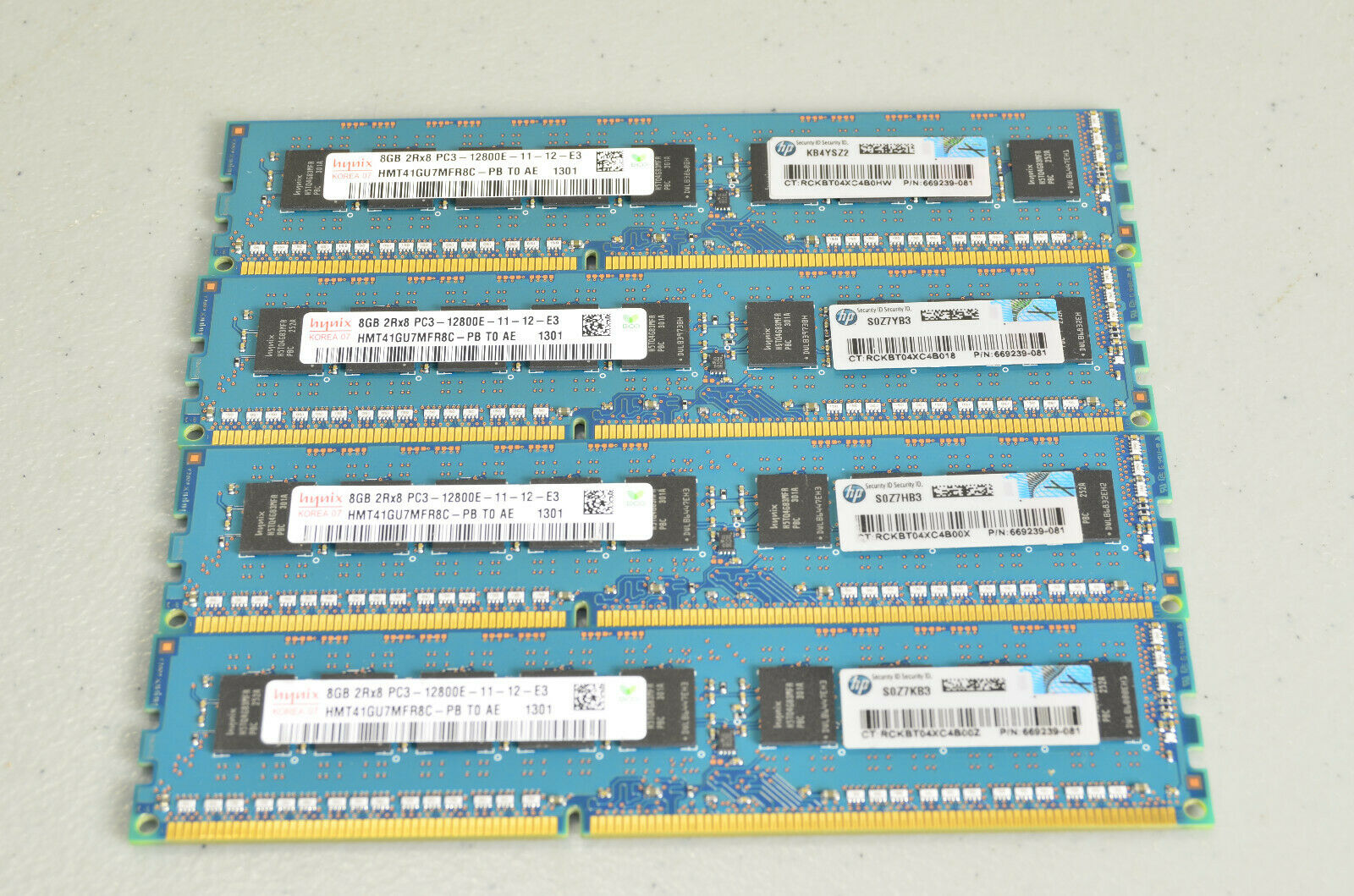HP 32GB (8GB x4) DDR3-1600 PC3-12800E 240-Pin ECC Memory Modules 669239-081. Buy it now for 95.00