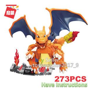 Enlighten Building Blocks Pokemon Series Charizard Fits Mega Construx Toys