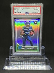 2019-Panini-Donruss-Optic-DK-METCALF-Holo-163-RC-Rookie-PSA-10-GEM-MT-QTY