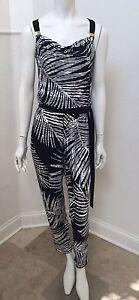 ombreggiata stampa marca taglia con palmare senza maniche da Tuta donna 12 Black Market a0qXCC