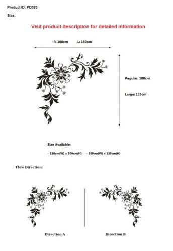 Stylish Flower Wall Art Stickers,Flower Wall Decor Sticker,Wall Stickers PD83