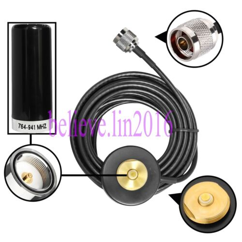 700-900Mhz antenna NMO Mount Magnetic base With N-J Connector For Mobile radio