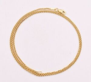 1-5mm-Technibond-Round-Rolo-Chain-Necklace-14K-Yellow-Gold-Clad-Silver-925-ITALY