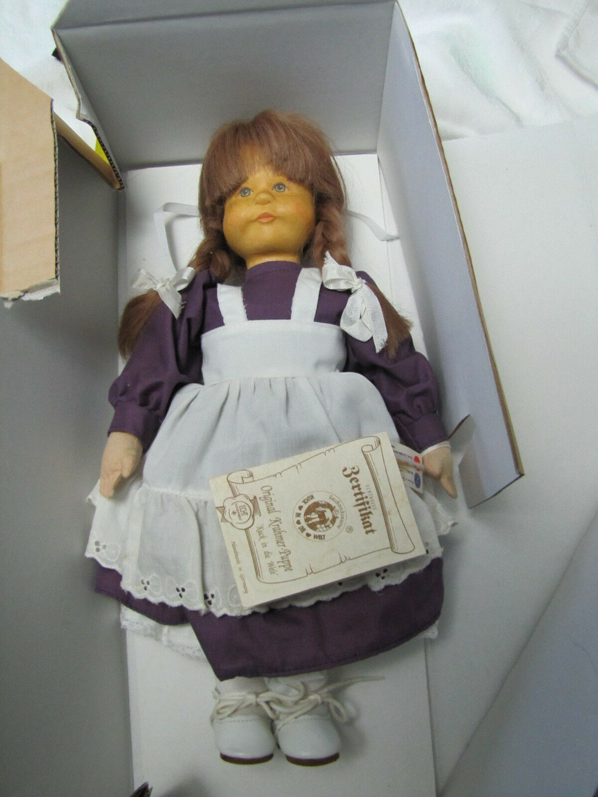 Germany Krahmer Holzen Head Girl Doll in Box - 13  tall