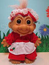"MRS CLAUS / CHRISTMAS GRANDMA  - 8"" Russ Troll Doll - NEW IN ORIGINAL WRAPPER"