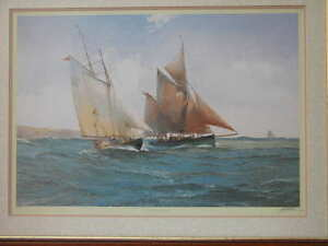 Artist-Michael-Lees-signed-print-Hoshi-and-Provident-49-of-850-Framed