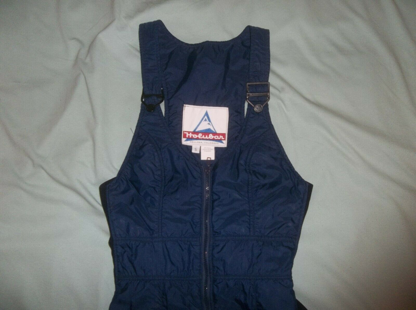 Holubar Vintage Polarguard Bibs Insulated Pants bluee colorado USA Small PERFECT