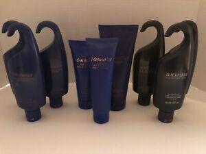AVON BLACK SUEDE LEATHER Eau De Toilette Spray + Body Wash