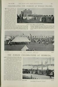 1897-PRINT-JUBILEE-AT-WHALE-ISLAND-FOREIGN-NAVAL-OFFICERS-PARADE-GROUND-BERMUDA