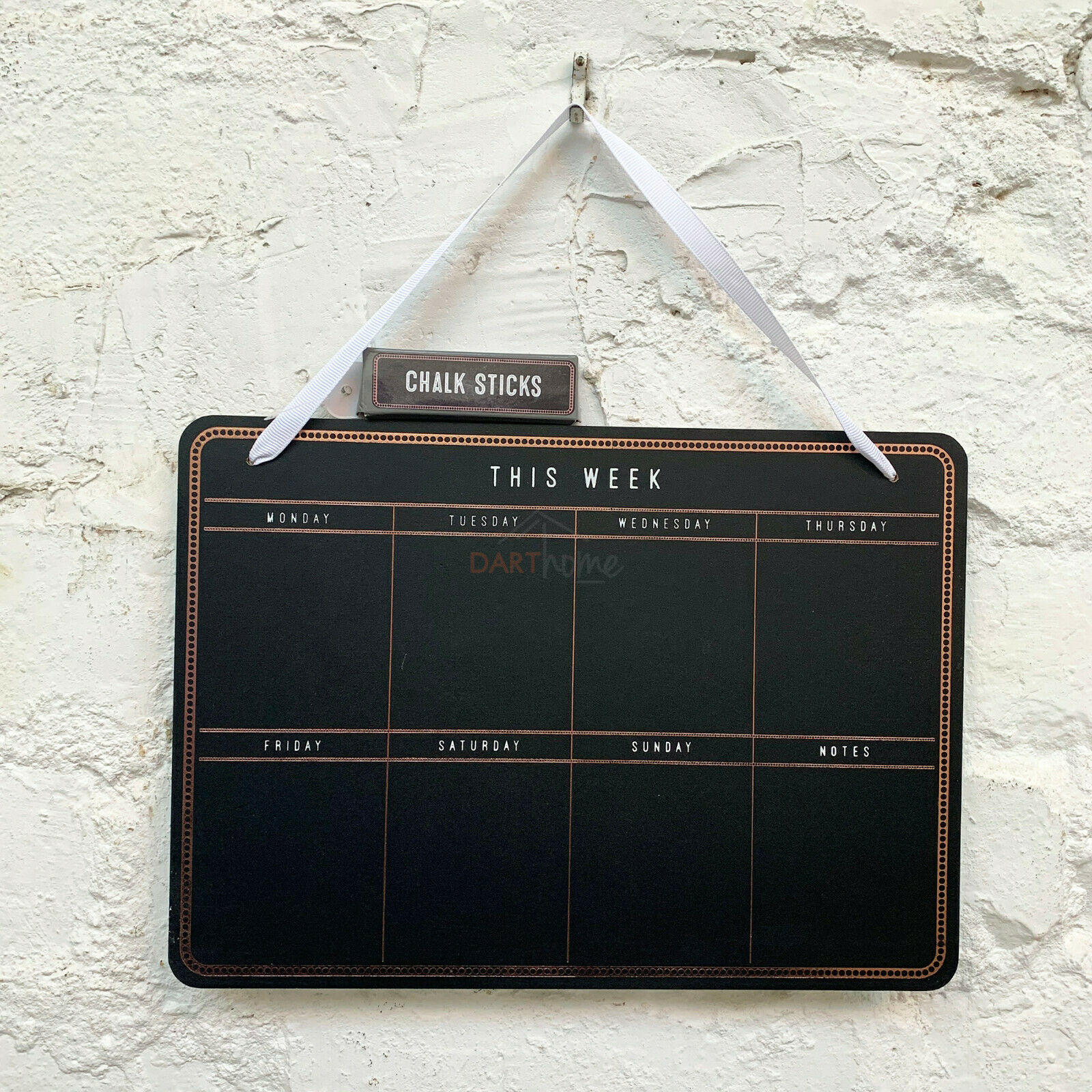 Wall Mounted Weekly Planner Chalk Board Memo Chalkboard Calendar Office Kitchen For Sale Ebay