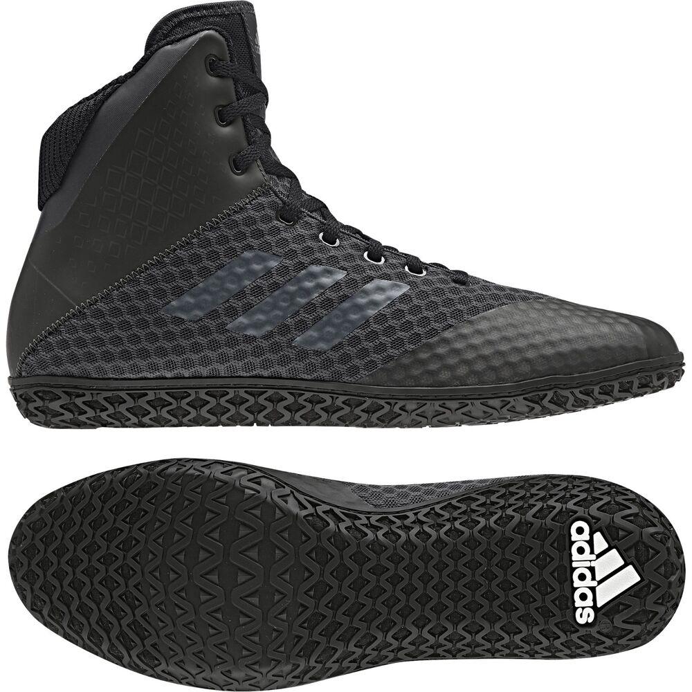 Adidas Mat Wizard 4 Wrestling Chaussures Bottes Baskets Noir Bleu ou Rouge pour homme-