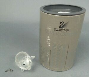 Swarovski-Crystal-Figurine-Pig-W-Box-Tail-Needs-Reglued