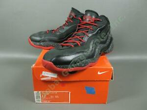 Nike Air Zoom Flight 96 Supreme Mens Size 12 Gym Basketball Sneakers Black Red