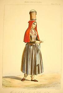 Ensoleillé Alophe, Marie Alexandre Costume Vallée D'assau Village De Laruns C1840 Lithograp