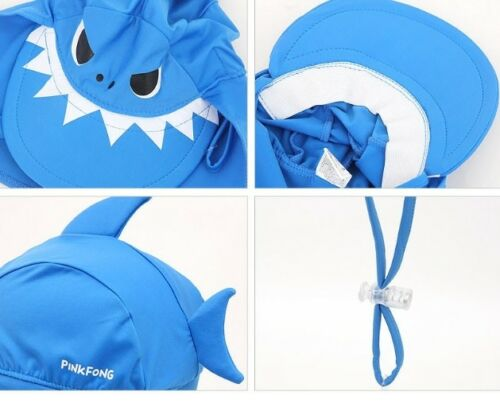 Pinkfong Daddy Shark Flap Cap Swimming Hat For Toddler Boy Baby BL