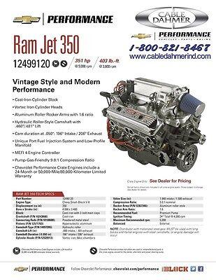 Chevrolet Performance Ram Jet 350 PFI Engine  19355815