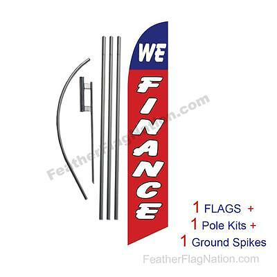 """/""""LOOK/"""" super flag Red or Green Checker swooper banner advertising"""
