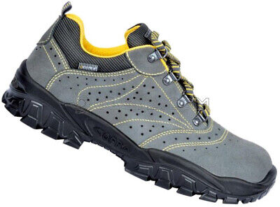 MENS LEATHER WORK SAFETY SHOES TRAINERS STEEL TOE CAP COFRA NEW TIGRI S1 P SRC