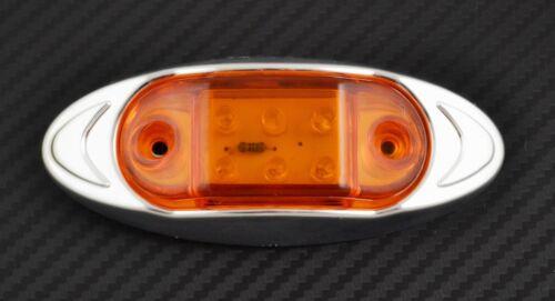 8x 6 Led 12v Bernstein Seite Chrom Begrenzungsleuchten für Auto Opel VW