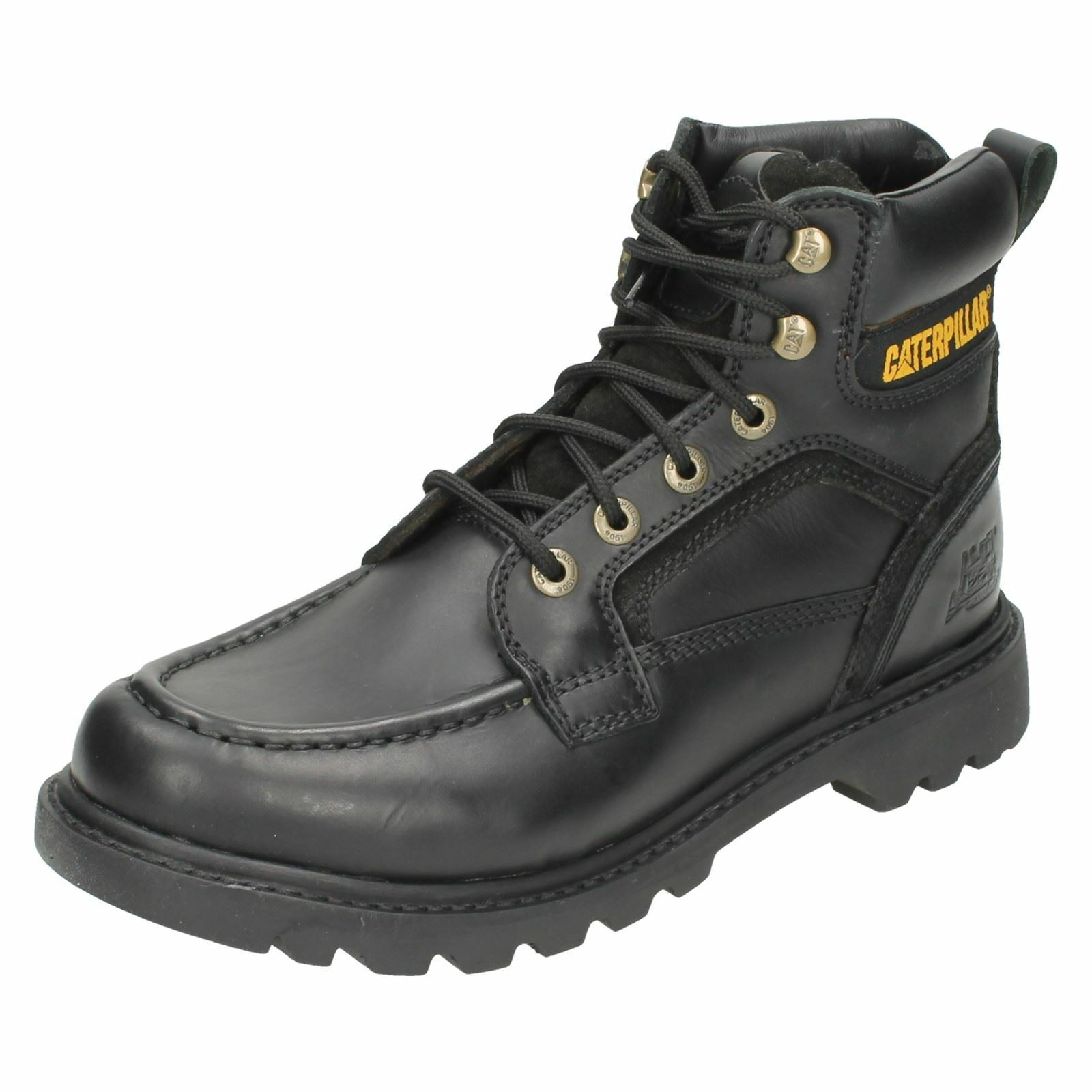 Men's TRANSPOSE boots Black leather lace up boots  by CATERPILLAR